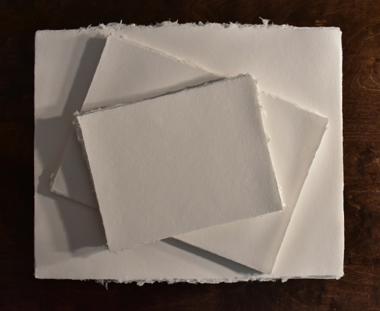 White Cotton Handmade Paper, 8x11 inches